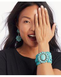 Sole Society - Blue Lotus Statement Earrings - Lyst