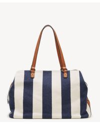 Sole Society Blue Millie Tote Fabric Tote