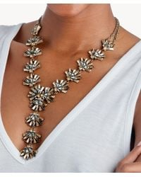 Sole Society - Metallic Confetti Cluster Statement Necklace - Lyst