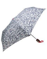 Joules - Blue Floral Umbrella - Lyst