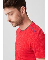 S.oliver Slim: Meliertes Shirt mit Print in Red für Herren