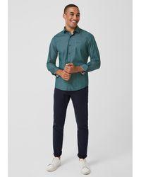 S.oliver Slim: Hemd mit Chambray-Muster in Blue für Herren