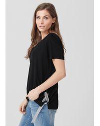 Triangle Black Jerseyshirt mit Bindedetail