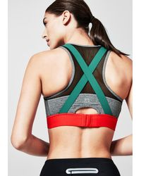 s.Oliver ACTIVE Gray High Impact: X-Back Sport-BH