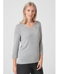 S.oliver Gray Shirt mit Metallic-Effekten