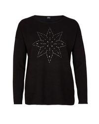 s.Oliver BLACK LABEL Black Pullover mit Nieten-Applikation