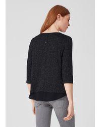 S.oliver Black Jerseyshirt im Lagen-Look