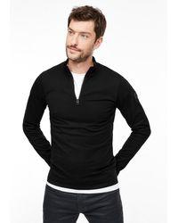 S.oliver Langarmshirt mit Zipper in Black für Herren