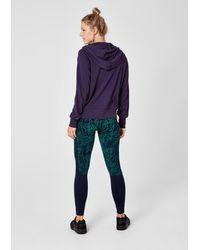 S.oliver Purple Leichte Sweatjacke mit Kapuze