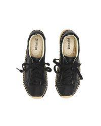 Soludos Black Leather Platform Tennis Sneaker