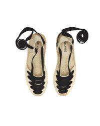 Soludos Natural Laced Demi Wedge Gladiator Sandal