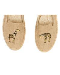Soludos Natural Giraffe Smoking Slippers