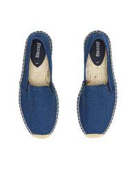Soludos Blue Men's Casual Classic Smoking Slipper for men