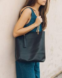 Soludos - Black Merida Leather Tote - Lyst