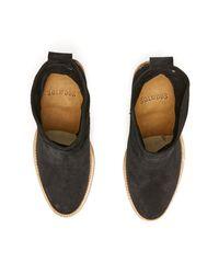 Soludos Black Braided Trim Wooden Heel Bootie