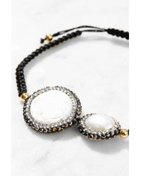 Kevia - White Thread Bracelet - Lyst