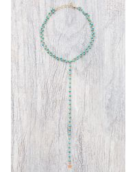 Gjenmi - Blue Turquoise Double Lariat Star Choker - Lyst
