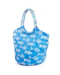 South Moon Under - Rock Flower Paper Saba Blue Bucket Beach Bag - Lyst