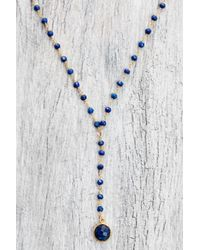 eff.Y.bee - Blue Lapis Beaded Lariat Choker Necklace - Lyst