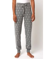 South Moon Under - Gray Wild Heart Button Up Jogger - Lyst