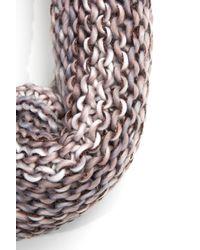 South Moon Under - Multicolor Multi Yarn Knit Scarf With Lurex - Lyst