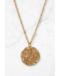 South Moon Under - Metallic Filigree Disc Necklace - Lyst
