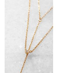 Tai - Metallic Gold Double Chain Y Necklace - Lyst