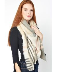 South Moon Under - Multicolor Taupe Plaid Oversized Blanket Wrap - Lyst