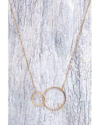 Tai - Metallic Double Circle Sparkle Necklace - Lyst