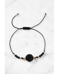South Moon Under - Black Druzy String Bracelet - Lyst