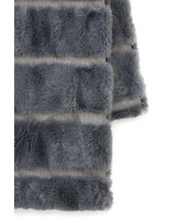 South Moon Under - Gray Faux Fur Mink Infinity Scarf - Lyst