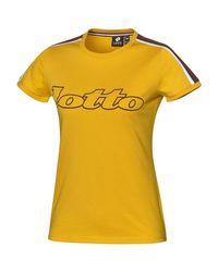 T-shirt giallo 210887 T-shirt Lotto Leggenda en coloris Yellow