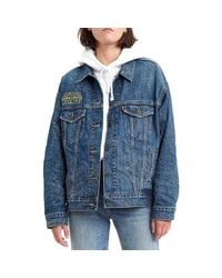 DAD TRUCKER MAY THE FORCE BE WITH YOU Veste Levi's en coloris Blue