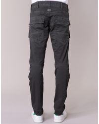G-Star RAW - Gray Air Defence 5620 3d Slim Men's Trousers In Grey for Men - Lyst