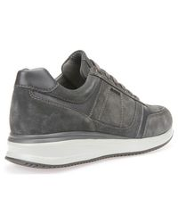 Geox Gray U620gb 02285 Sneakers Man Anthracite Men's Shoes (trainers) In Grey for men
