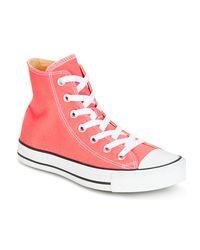 Converse Chuck Taylor All Star Seasonal Color Hi Seasonal Color Hi Sunblu Women's Shoes (high-top Trainers) In Pink