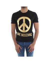 T-shirt M4731 3C E1811 Love Moschino pour homme en coloris Black