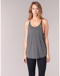 Under Armour - Gray Hg Armour 2-in-1 Women's Vest Top In Grey - Lyst