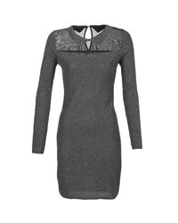 Betty London - Gray Flouelle Women's Dress In Grey - Lyst