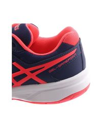 Asics Red Gelgamepoint Womens 4920 Women's Tennis Trainers (shoes) In Multicolour
