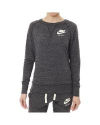 Nike Gray Sweatshirt W Nsw Gym Vntg Crew Felpa Grigia
