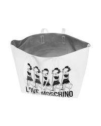 Love Moschino White Jc4308pp01kt0100 Men's Shoulder Bag In Multicolour