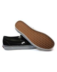 Vans Classic Slip On Black Canvas Trainers Men's Slip-ons (shoes) In Black for men