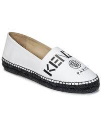 KENZO Paris Women's Espadrilles / Casual Shoes In White