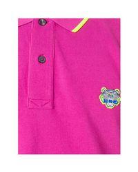 KENZO Paris - Men's Polo Tiger Men's Polo Shirt In Pink for men