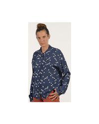 Mat De Misaine - Cannes Women's Shirt In Blue - Lyst