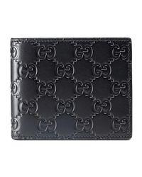 Gucci - Men's Leather Wallet Ssima Margaux Men's Purse Wallet In Black for men