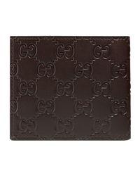Gucci - Men's Leather Wallet Ssima Margaux Men's Purse Wallet In Brown for men