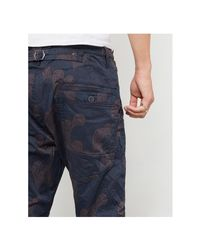 G-Star RAW Gray Lumber Tapered Chino Grey Camo Men's Trousers In Grey for men