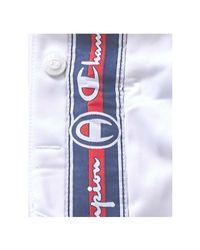 Champion Logo Stripe Sweatpants White for men